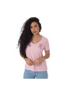 T-Shirt Daniela Cristina Outubro Rosa 602Dc10333 Rosa