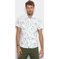 22cda5007 Camisa Colcci Estampada Masculina - Masculino-Azul+Branco