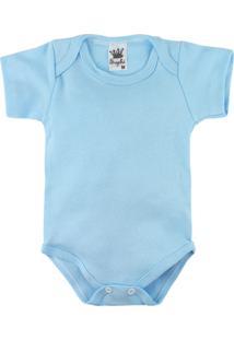 Body Para Bebê Alyaht Básico Azul Claro