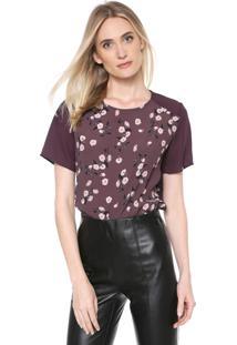 Camiseta Forum Floral Roxa
