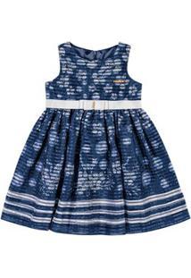 Vestido Marisol Azul Bebê Menina Vestido Marisol Azul Menina