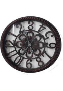 Relógio De Parede Retro Estilo Madeira Mdf Analógico Makeda