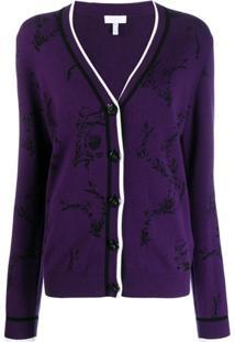 Escada Sport Knitted Cardigan - Roxo