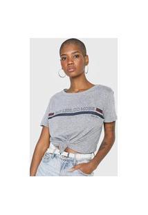Camiseta Polo Wear Say Less, Do More Cinza