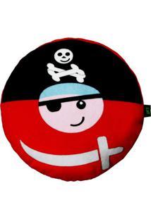 Travesseiro Pirata- Preto & Vermelho- 6Xø25Cm- Hbright Starts