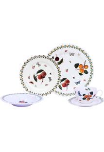 Aparelho De Jantar Noblesse Peaches Porcelana 30 Peças - 30098