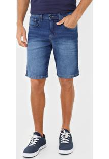Bermuda Jeans Quiksilver Reta Every Azul