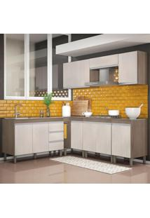 Cozinha Modulada Karen 8 Módulos 7700 Malbec/Avelã - Mpdecor