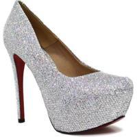 a9329e1193 Scarpin Zariff Shoes Pump Glitter - Feminino-Cinza