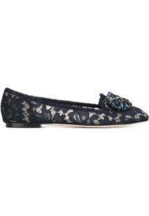 Dolce & Gabbana Slippers Modelo 'Vally' - Azul