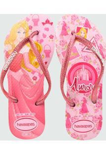 87f6a08c7 Chinelo Infantil Princesa Aurora Slim Disney Havaianas