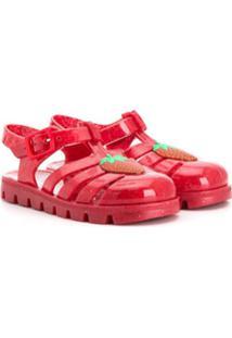 Sophia Webster Mini Sandália Com Detalhe De Morango - Vermelho