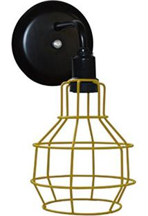 Arandela Aramado Modelo Pêra - 16Cm X 13Cm - Amarelo