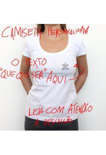 Mini Tipo Personalizada - Camiseta Clássica Feminina