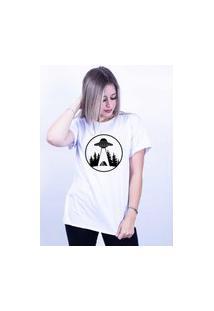 Camiseta Corte A Fio Bilhan Nave Gde Branca