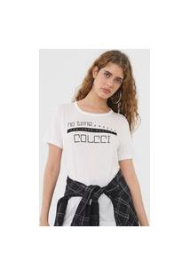 Camiseta Colcci No Time Off-White