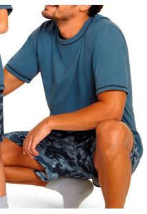 Pijama Lupo 28162-001 0770-Azul