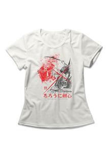 Camiseta Feminina Samurai X Off-White
