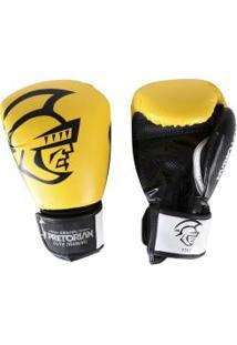 Luvas De Boxe Pretorian Elite - 14 Oz - Adulto - Amarelo/Preto