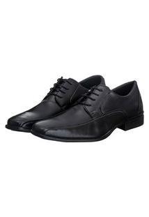 Sapato Social Masculino Cadarço Conforto Estilo Moderno Preto 39 Preto