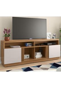 Rack Para Tv Até 65 Polegadas Itapua 2 Portas Natura Real/Off White - Colibri Móveis
