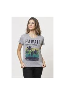 Camiseta Jay Jay Basica Endless Summer Cinza Mescla Dtg