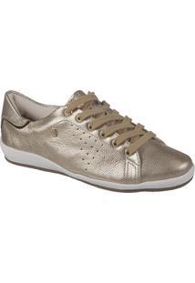 Tênis Feminino Bottero Couro Metallizado Roma Dourado Couro Metal Roma Poa Dourado Specchio Bronze - 256501