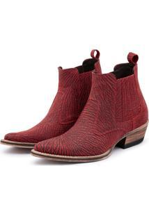 Bota Top Franca Shoes Country Vinho