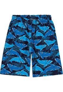 Bermuda Infantil Mineral Kids Masculina - Masculino-Azul