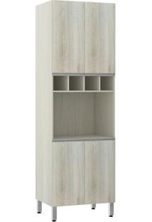 Módulo Cozinha Torre Lis 4 Portas 1 Nicho Forno 2559/173 - Legno Crema - Prime Plus - Luciane
