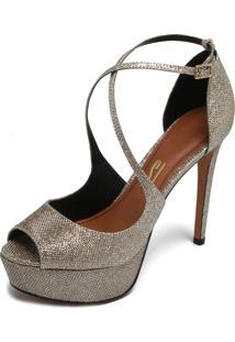 a5e7b182a8 Peep Toe Lurex Metalizado feminino