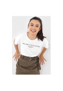 Camiseta Colcci Revolution Branca