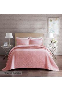Conjunto De Colcha Florence Home Design King Size- Rosa Corttex