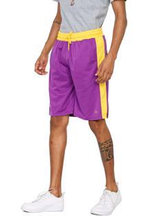Bermuda New Era Reta Los Angeles Lakers Roxa/Amarela