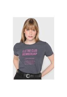 Camiseta Calvin Klein Jeans Eletro Club Grafite