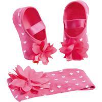 93f39834d Dafiti. Kit Puket Faixa De Cabelo E Meia Sapatilha Flor Pink
