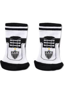 Meia Reve D Or Sport Chuteira Atlético Mineiro Branca E Preta 0b0e264a11ff5