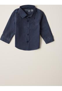 Camisa Reserva Mini Bb Tinturada Azul Marinho - Kanui