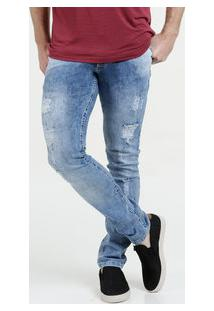 Calça Masculina Jeans Destroyed Skinny Biotipo
