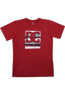 Camiseta Dc Shoes Menino Vinho