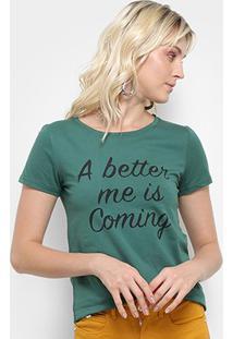 Camiseta Top Moda Better Me Feminina - Feminino-Verde