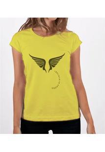 Camiseta Fernanda Almeida Angels - Feminino-Amarelo