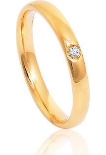 Aliança De Casamento Em Ouro 18K 2,5Mm Anatônica