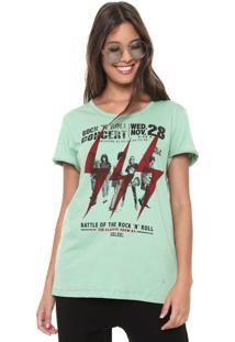 Camiseta Colcci Rock Concert Verde