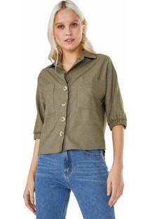 Camisa Manga Curta Punho De Elástico