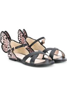 Sophia Webster Mini Sandália Butterfly - Preto
