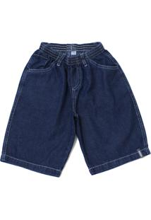 Bermuda Infantil Tóing Kids Masculina Azul Jeans Escuro