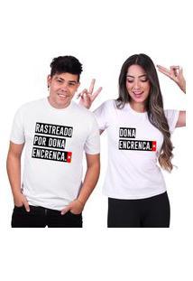 Kit Casal Tshirt Basica Algodáo Camisa Rastreado Por Dona Encreca