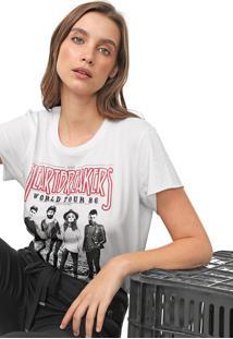Camiseta Colcci Heartbreakers Off-White
