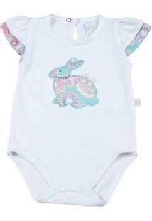 Body Bebê Cotton Aplic. Coelhinho - Feminino